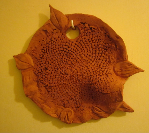 clay sunflower