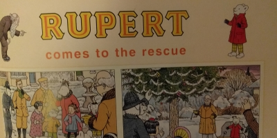 """Rupert comes to the rescue"" graphic"